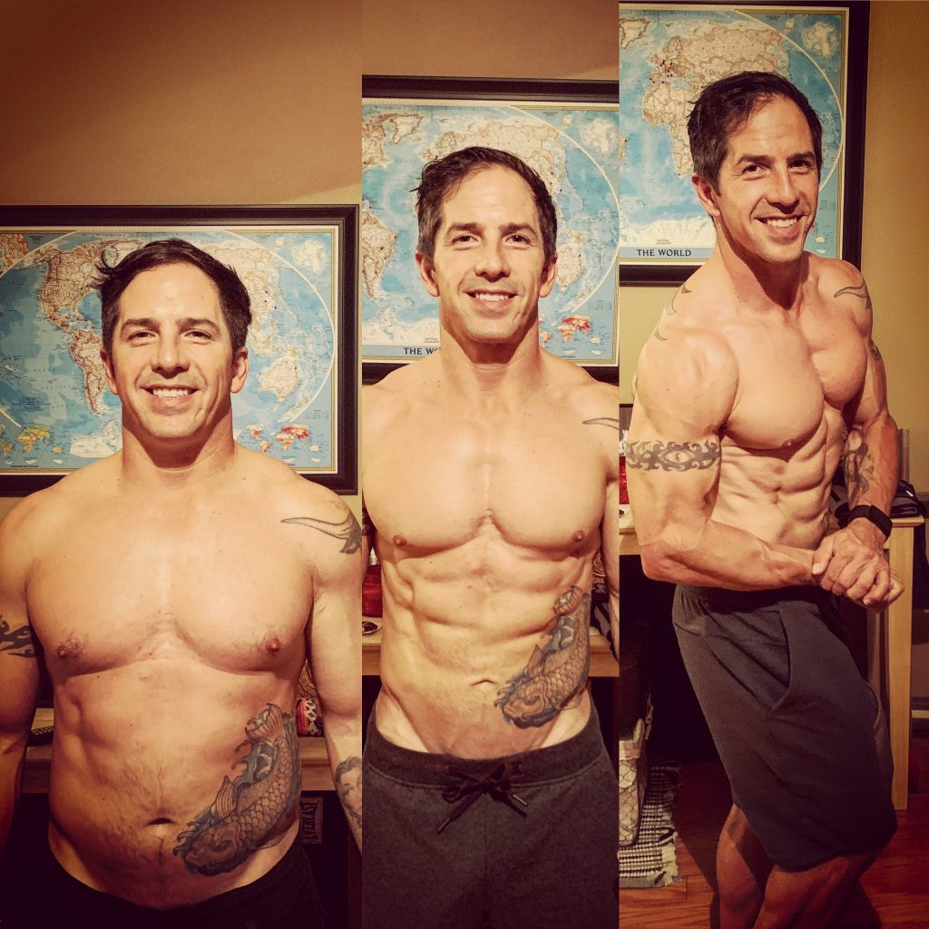 JP's body transformation from January 1st to April 12th.